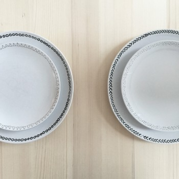 DIY assiettes peintes à la main