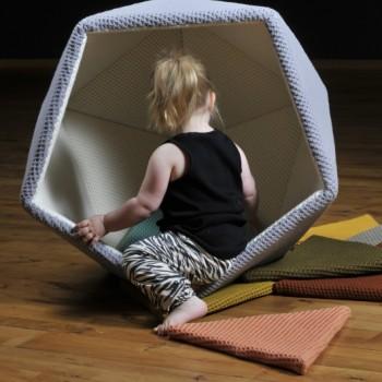 siege pour enfant géométrique geoball DIY