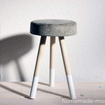 tabouret en ciment DIY