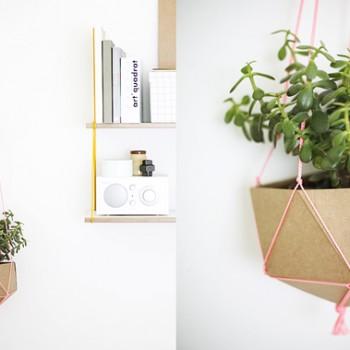 cache-pot géométrique geoball DIY