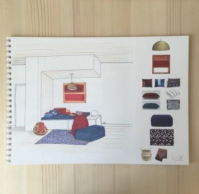 Projet #4 – Studio étudiant, ambiance ethnique chic