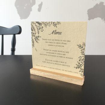 DIY porte menu