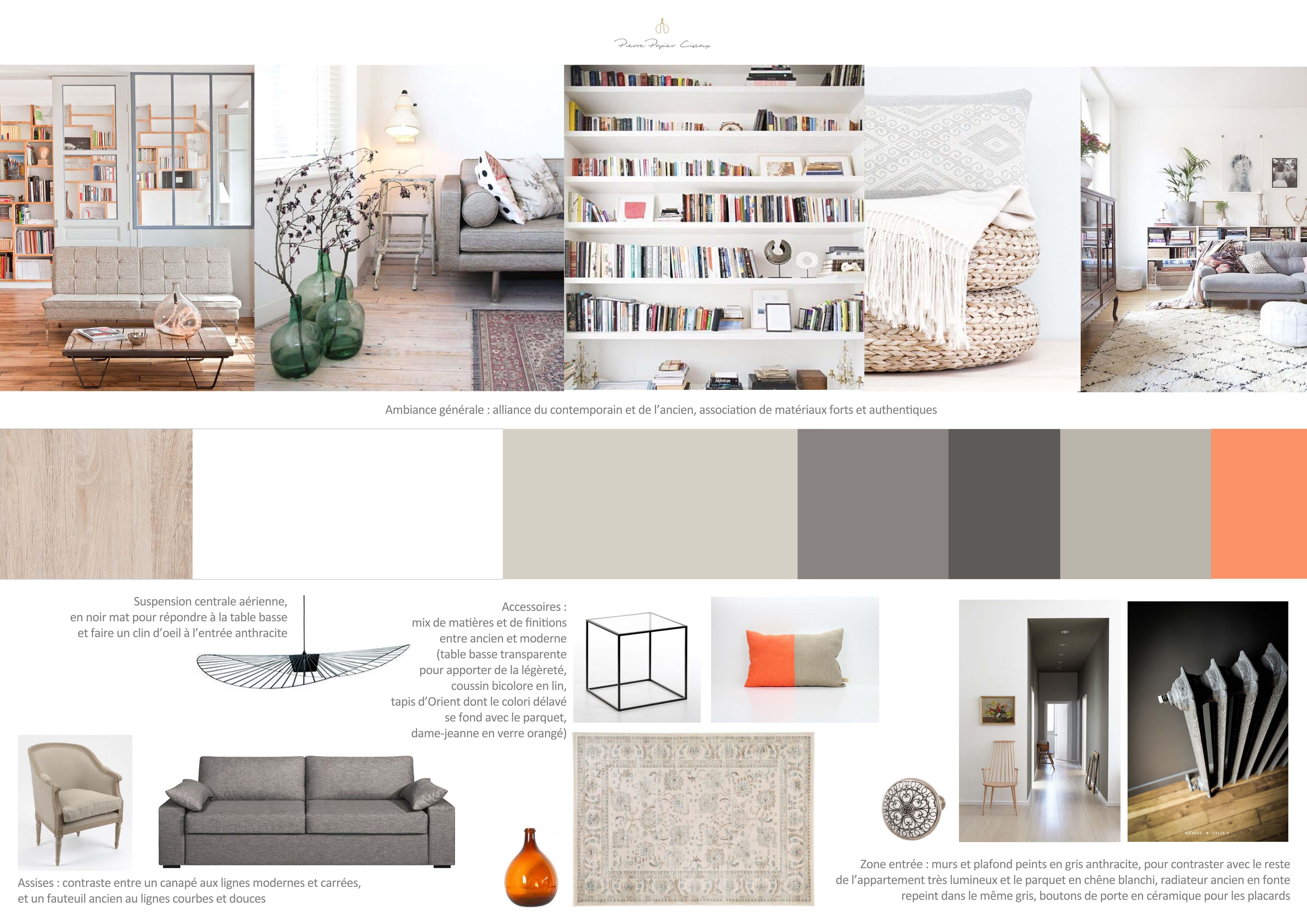 Projet 5 appartement parisien entre classique et - Salon parisien ...