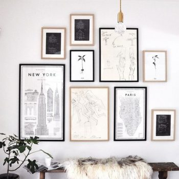 r ussir son gallery wall. Black Bedroom Furniture Sets. Home Design Ideas