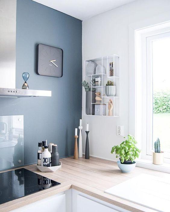 8 id es pour adopter bleu gris couleur de l 39 ann e 2017 for Cuisine bleu gris