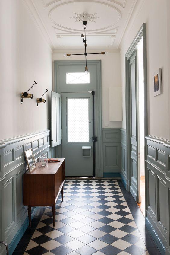 8 id es pour adopter bleu gris couleur de l 39 ann e 2017 for Couloir bleu gris