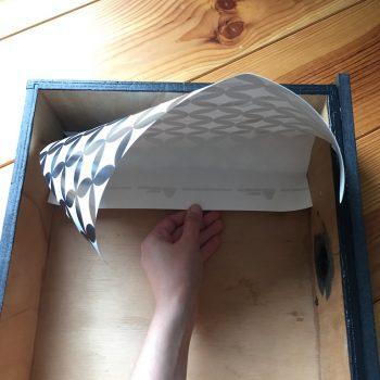 DIY buffet vintage à partir de cubes en bois