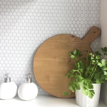 DIY planche à découper planche cuisine en bois ronde
