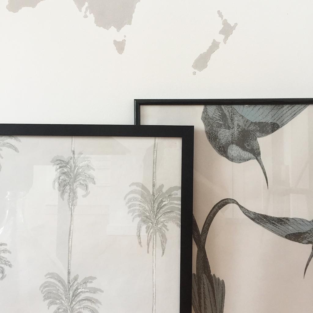 diy 52 un tableau en papier peint pierre papier ciseaux. Black Bedroom Furniture Sets. Home Design Ideas