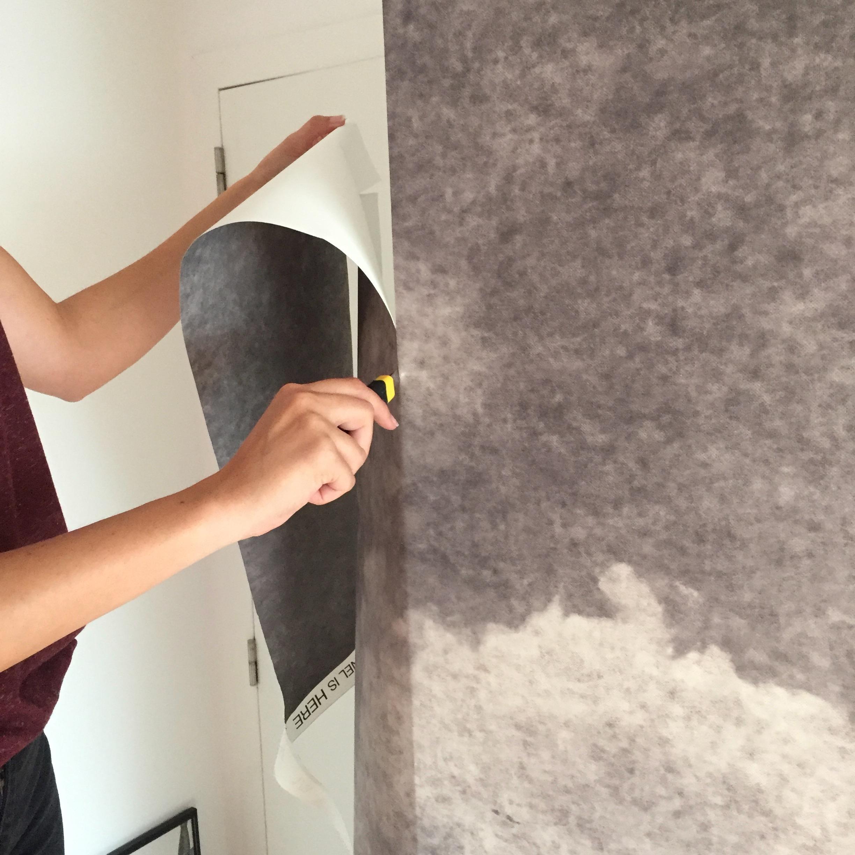 Pose De Papier Peint Commencer La Pose Du Papier Peint