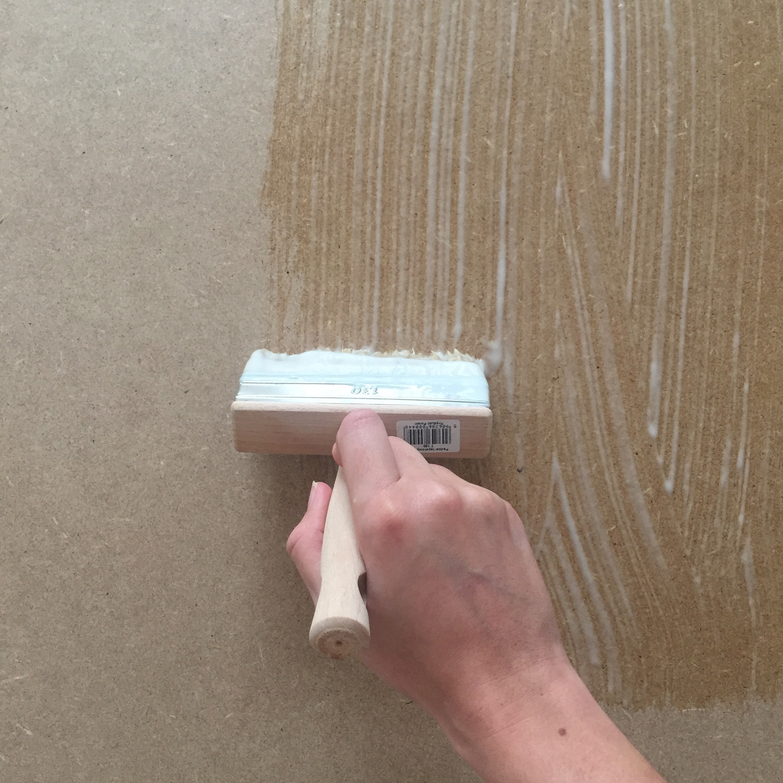 Diy 55 un panneau d coratif en papier peint pierre - Papier peint panneau decoratif ...