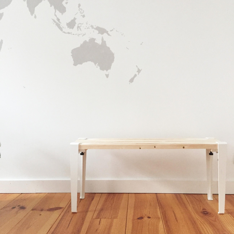 Diy 59 un banc en bois et blanc pierre papier ciseaux - Table et banc salle a manger ...