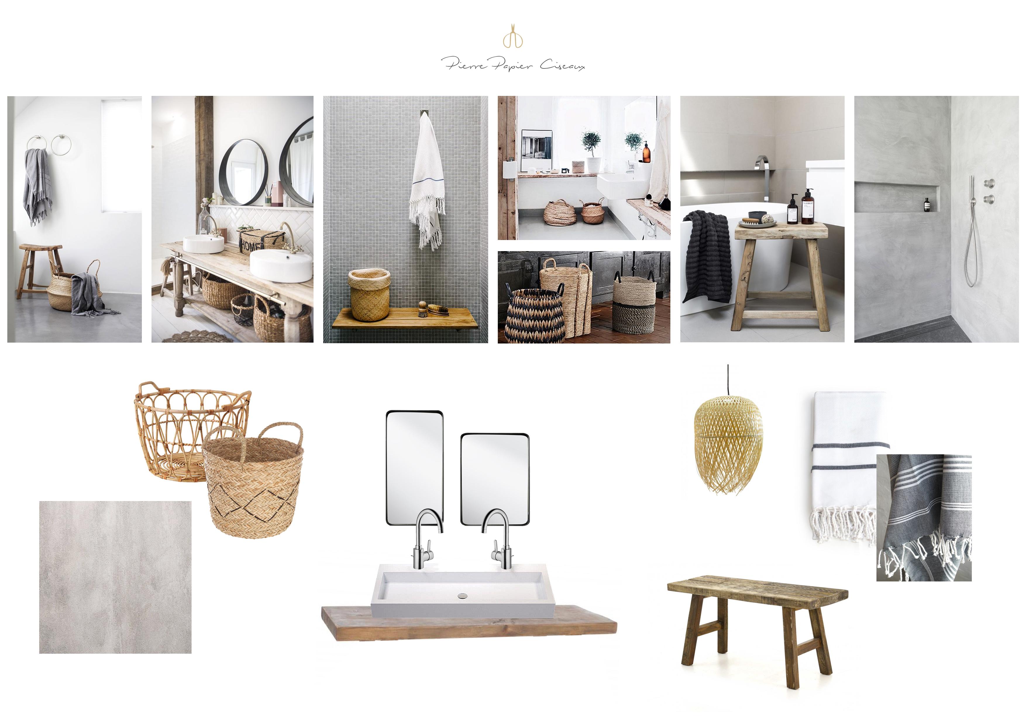 Plafonnier Salle De Bain Brico Depot ~ Inspiration Salle De Bain 3 Moodboards Pour 3 Ambiances Pierre