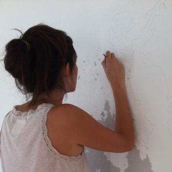 mappemonde murale - peinture