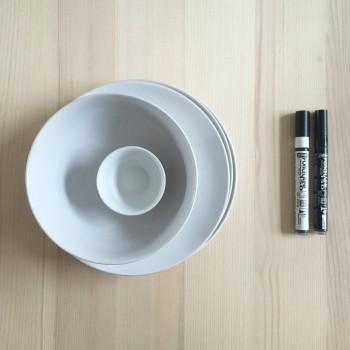 matériel pour DIY assiettes peintes à la main