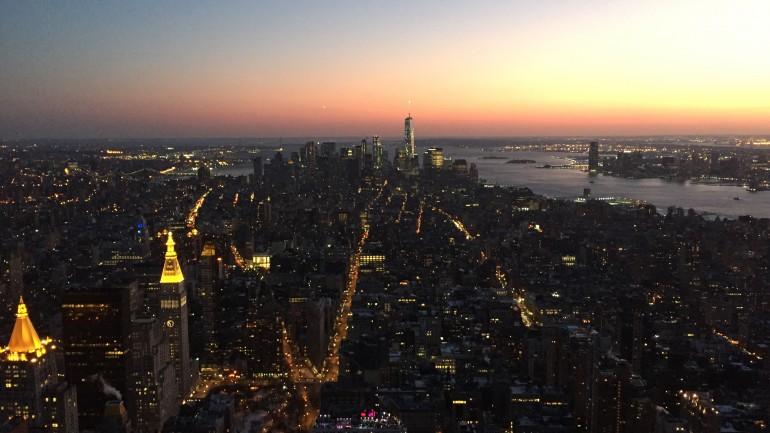 vue depuis l'Empire State Building