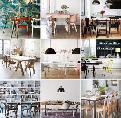 Des chaises mix & match