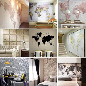 inspiration carte du monde murale