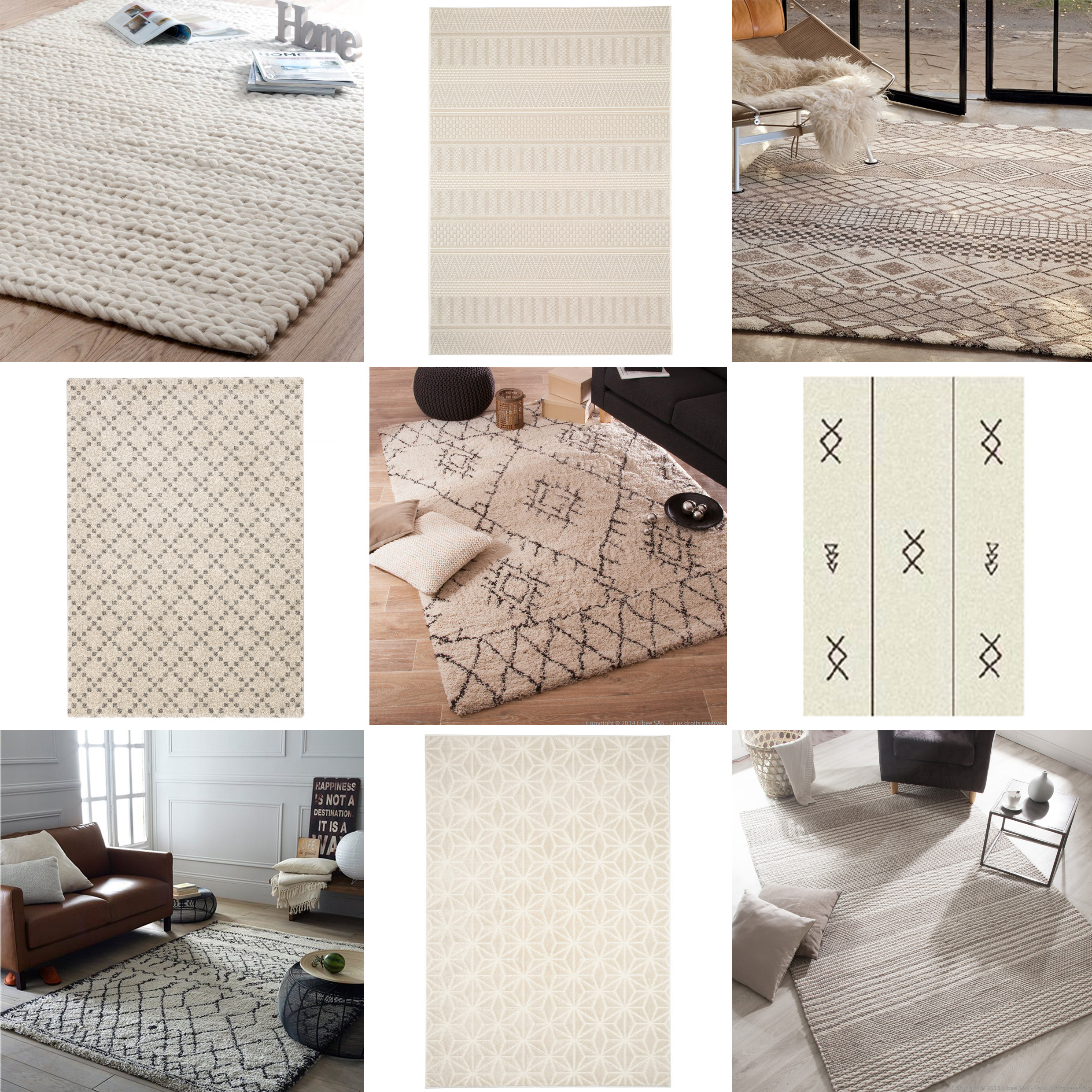 inspiration tapis beige