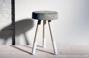 tabouret en ciment DIY