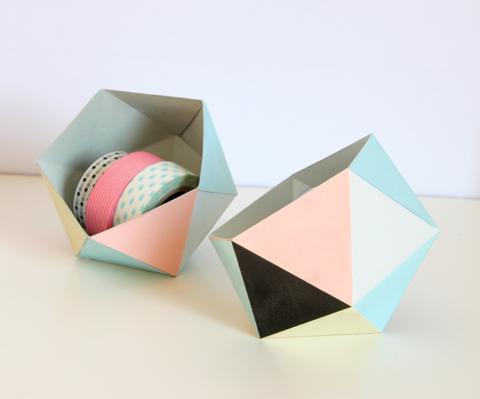 petit rangement géométrique geoball DIY