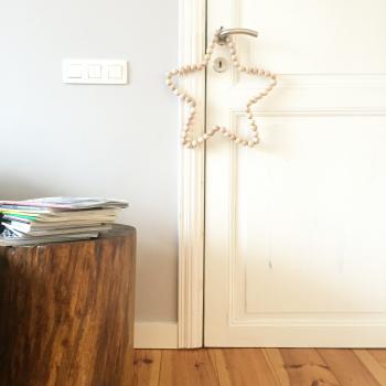 étapes pour réaliser une étoile en perles de bois pour Noel