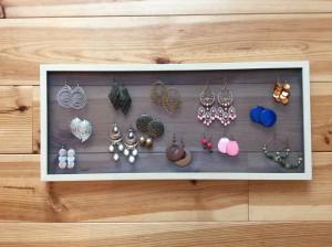 DIY rangement bijoux boucles d'oreilles