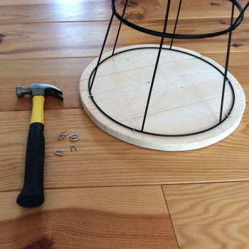 DIY table d'appoint avec des abats jours