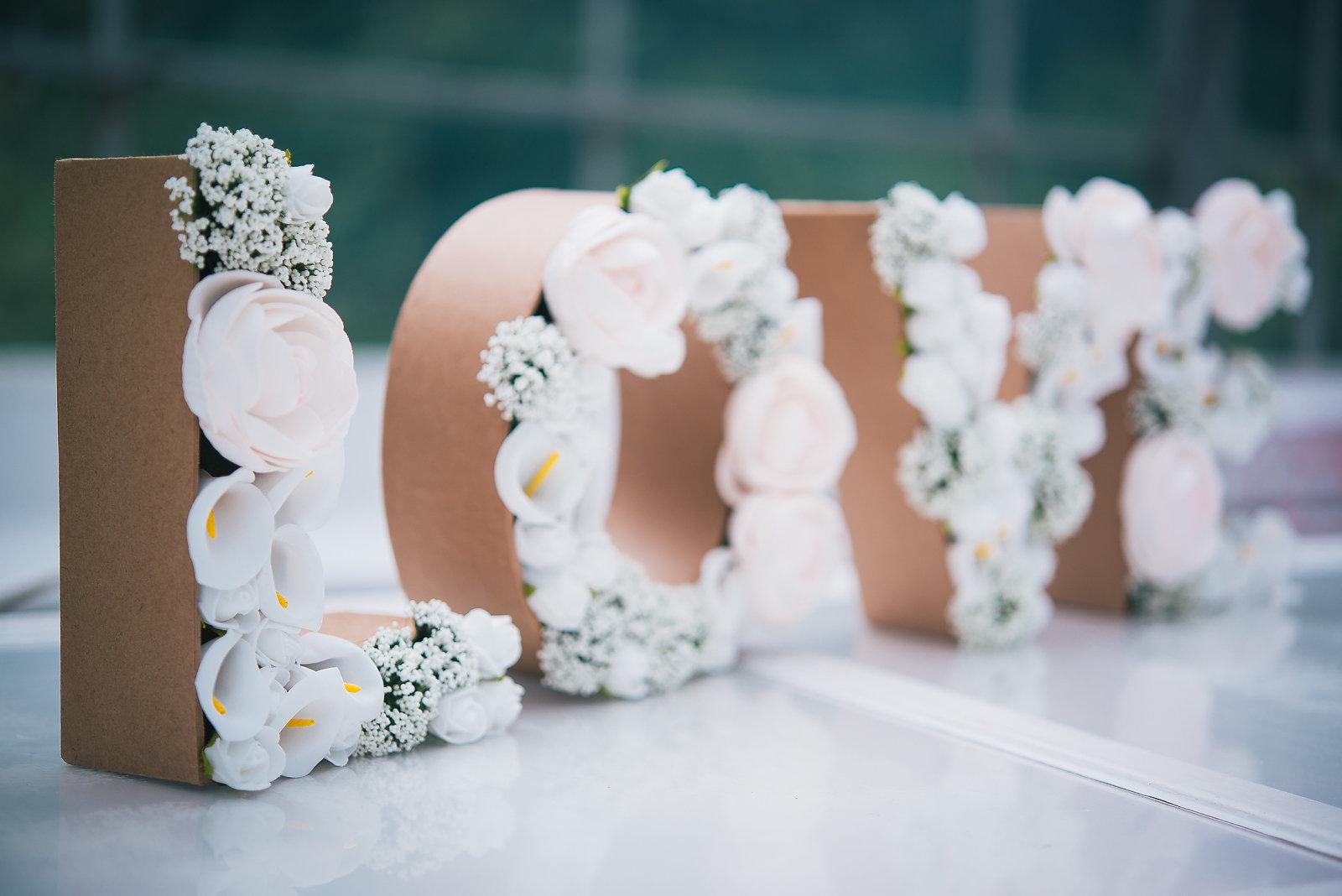 Ou Acheter De La Mousse Pour Piquer Des Fleurs diy #19 - des lettres 3d fleuries |