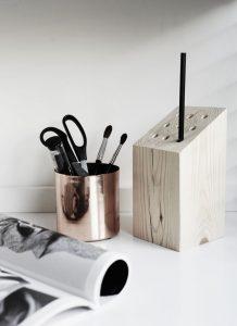 pot à crayon en bois