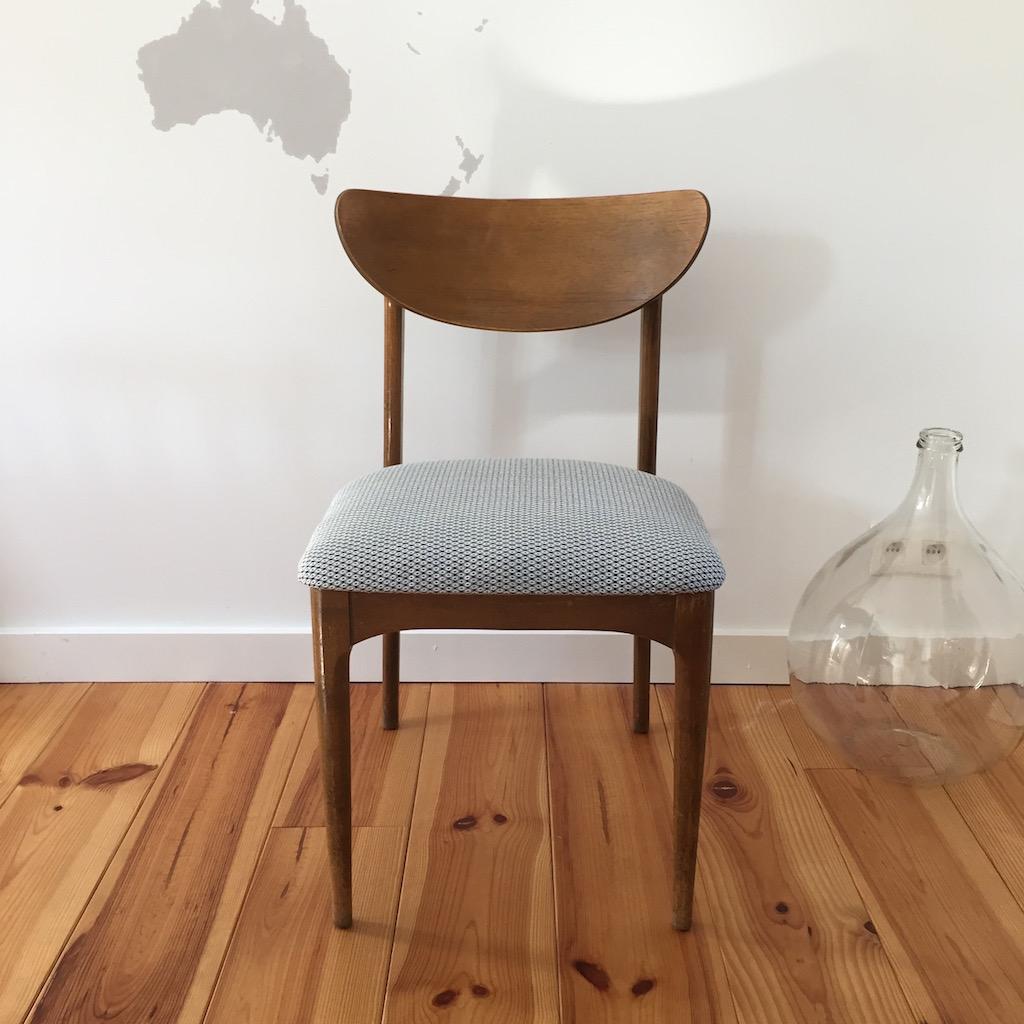 Décoration d'intérieur - Upcycling - Chaise en bois retapissée