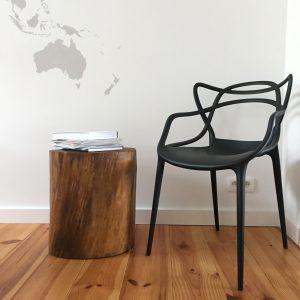 DIY table en tronc d'arbre bûche