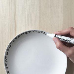 DIY assiettes peintes à la main