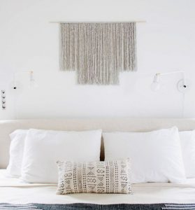 DIY tissage wall hanging macrame