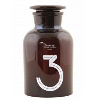 déco avec bouteilles en verre brun flacon apothicaire vintage
