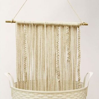 DIY tissage wall hanging macrame