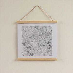 DIY cadre affiche vintage baguettes bois à suspendre