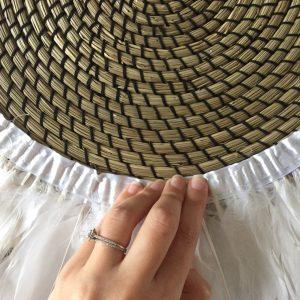 DIY juju hat déco bohème ethnique chic plumes