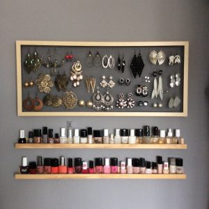 DIY étagère à vernis à ongle DIY rangement bijoux