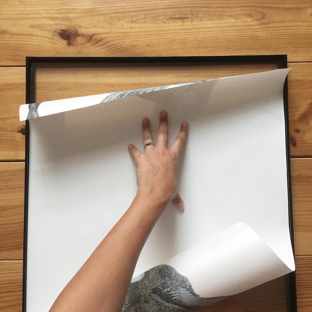 Diy 52 Un Tableau En Papier Peint Pierre Papier Ciseaux