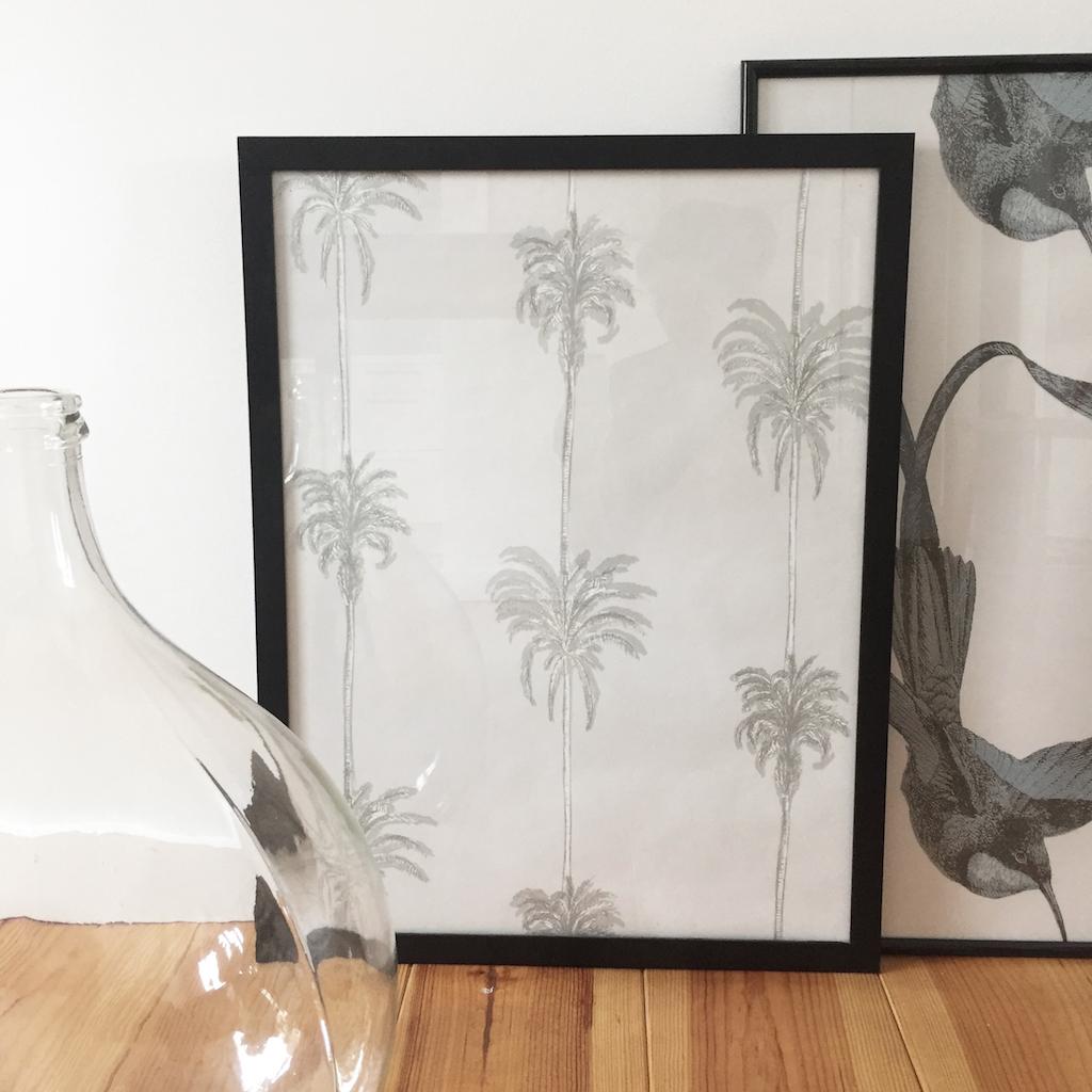 Diy 52 un tableau en papier peint pierre papier ciseaux for Tableau avec papier peint