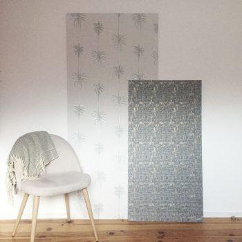 diy 55 un panneau d coratif en papier peint pierre papier ciseaux. Black Bedroom Furniture Sets. Home Design Ideas