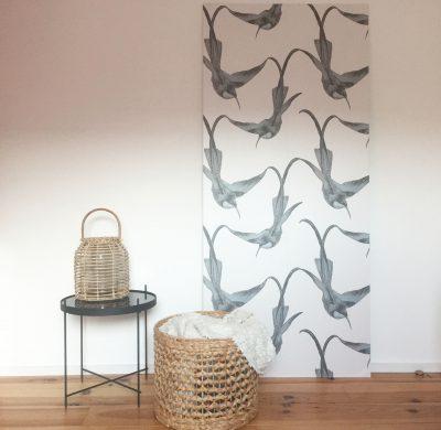 DIY #55 – Un panneau décoratif en papier peint