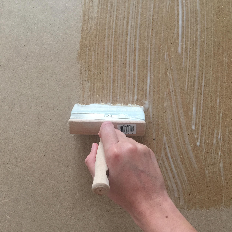 Colle Papier Peint Sur Bois