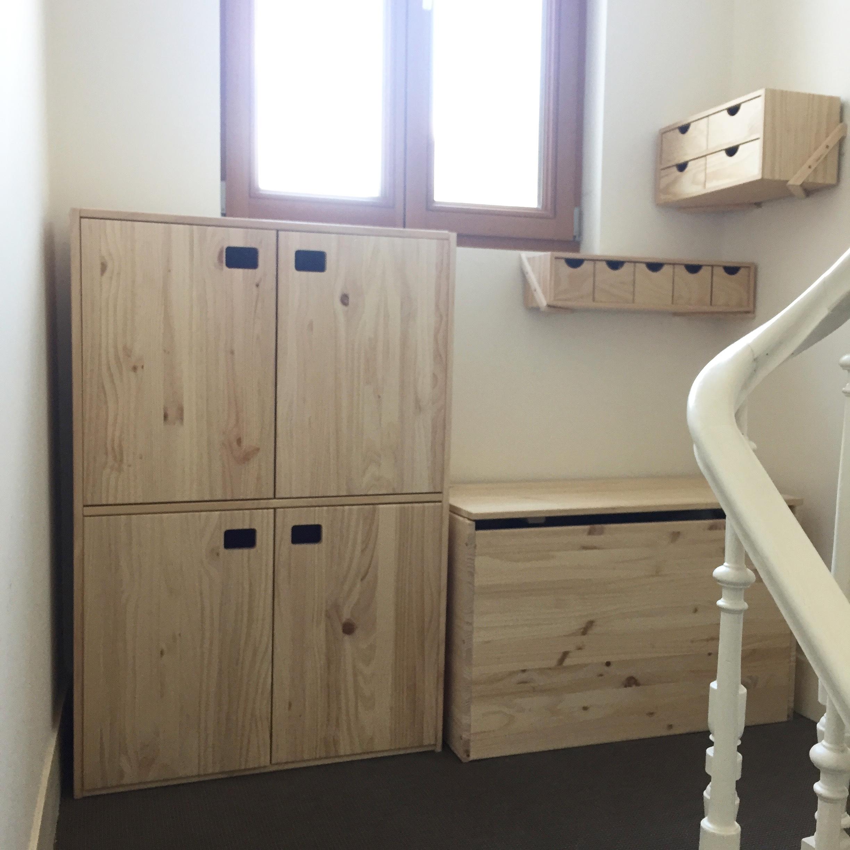 amenager un palier luactualit en image autre solution intressante un pan de mur entier dans un. Black Bedroom Furniture Sets. Home Design Ideas