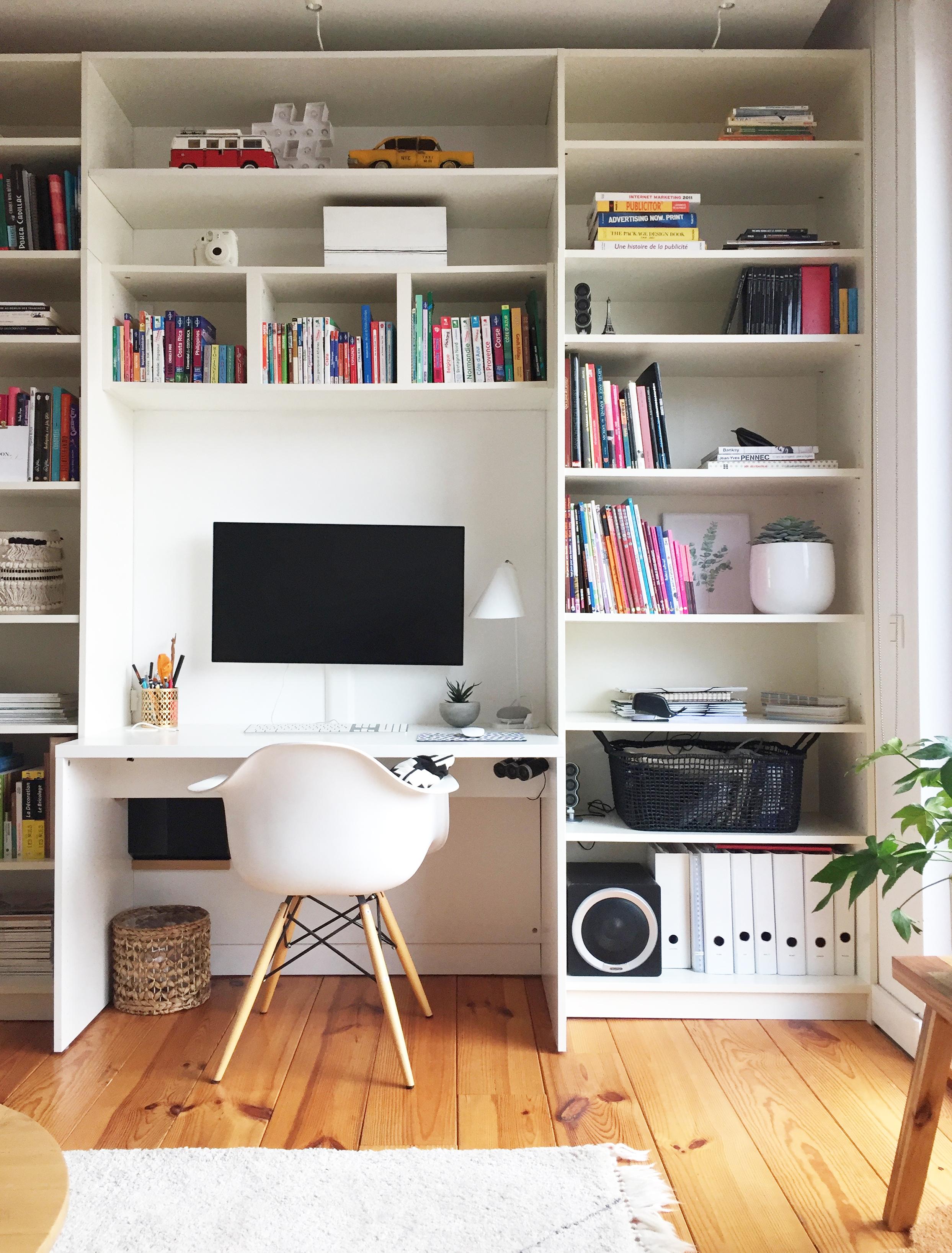 avant apr s d corer une biblioth que pierre papier ciseaux. Black Bedroom Furniture Sets. Home Design Ideas