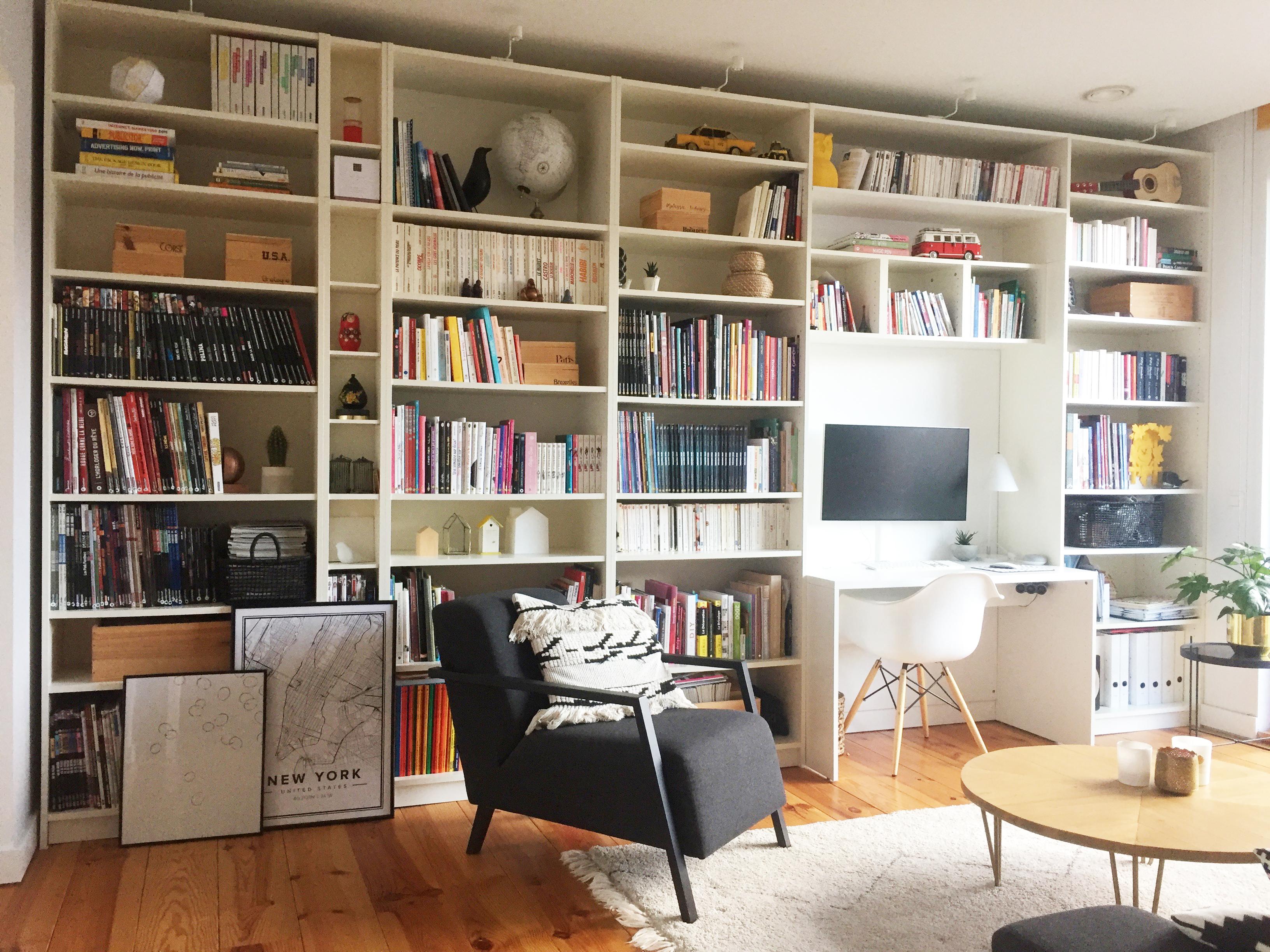 Avant-après : décorer une bibliothèque |