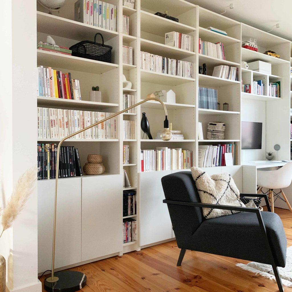 Meuble Tv Colonne Ikea avant-après : décorer une bibliothèque |